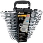 Performance Tool W1069 SAE/Metric Polished Combo Wrench Set, 22-Piece