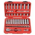 TEKTON 13101 3/8-Inch Drive Socket Set, Inch/Metric, 45-Piece